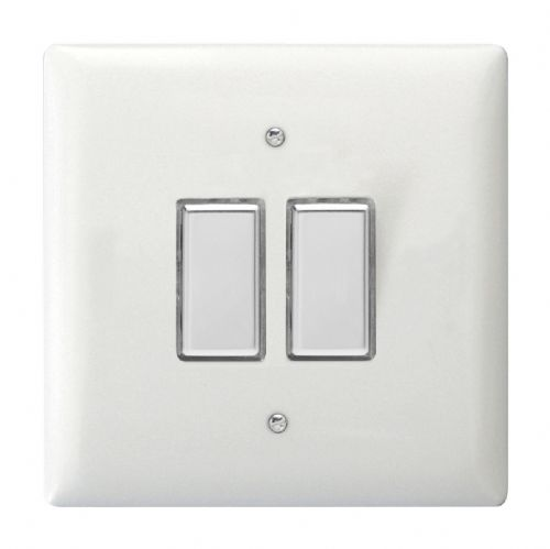 Varilight JOT102C Value Polar White 2 Gang V-Pro Multi-Way Touch Master LED Dimmer 0-100W
